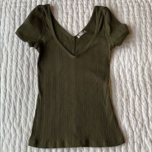 Free People Stretch ribbed T-Shirt